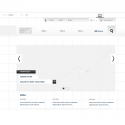 Wireframe site corporate editorial