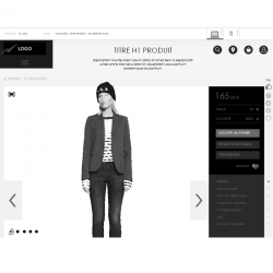 Wireframe site ecommerce responsive