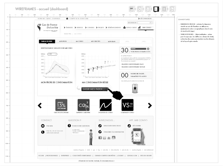 wireframing design d'interaction
