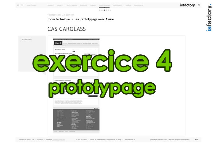 exercice ux design prototypage axure