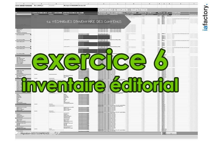 exercice ux design inventaire éditorial