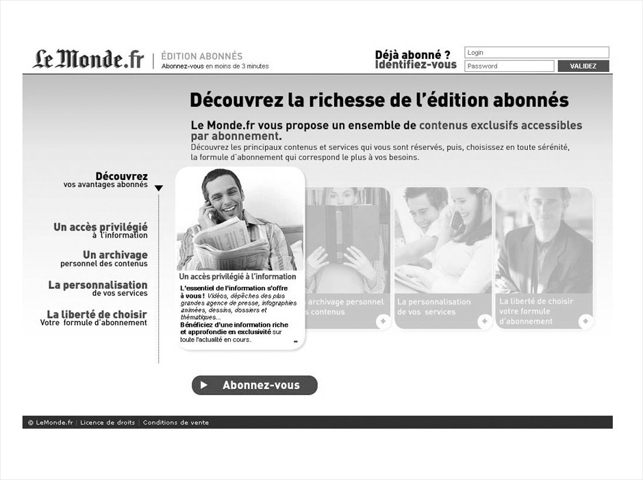 wireframe le-monde